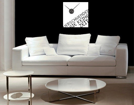Now Wall Decal Clock