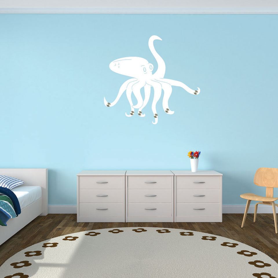 Octopus-Wall Decal Hanger