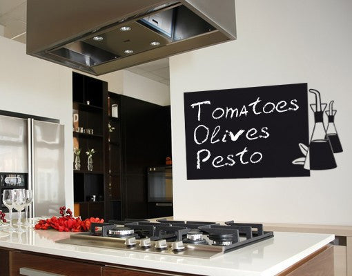 Oil-Blackboard and Whiteboard Wall Decals-Style and Apply