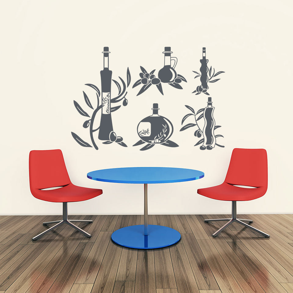 Oil Set-Wall Decal