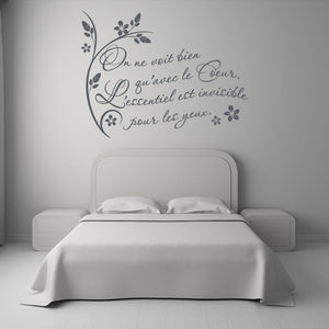On ne voit..Wall Quote-Wall Decal