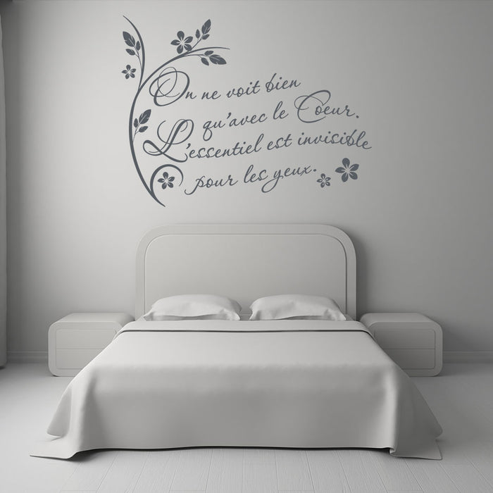 On ne voit..Wall Decal Quote