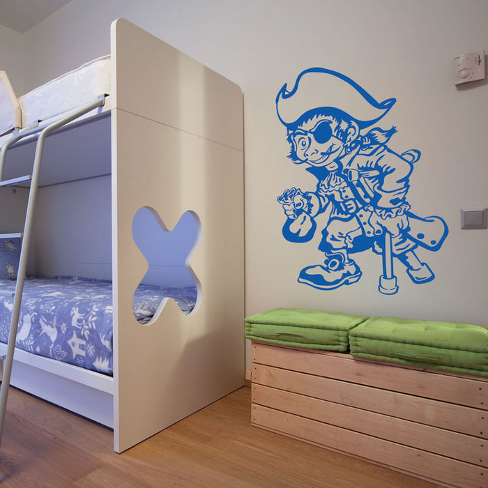 One Leg Pirate Wall Decal