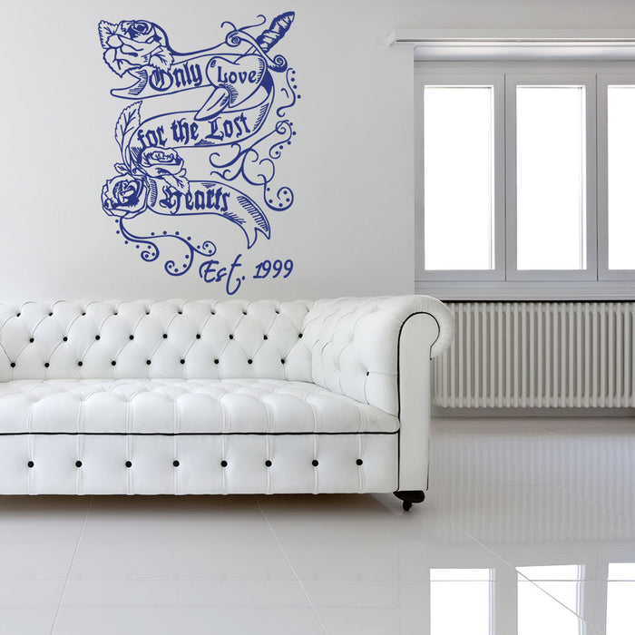 Only Love For The Lost Hearts Wall Decal