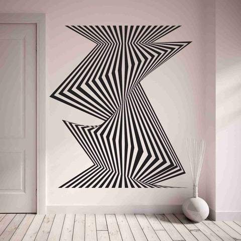 Optical Stripes Wall Decal-Wall Decals-Style and Apply