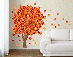 Orange Blossom Tree Sticker-Wall Decal Stickers-Style and Apply