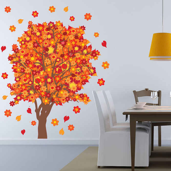 Orange Blossom Tree Sticker