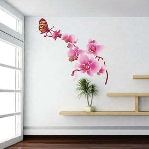 Orchid with Butterflies sticker