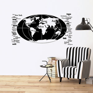 Our World Decal-Wall Decals-Style and Apply