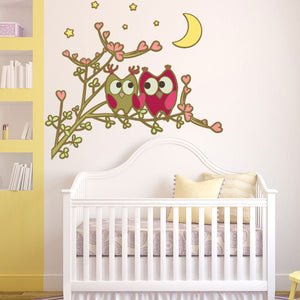 Owl Friends-Wall Decal Stickers-Style and Apply