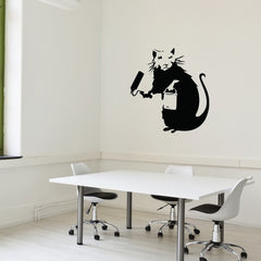 Painting Rat Banksy Wall Decal-Wall Decals-Style and Apply