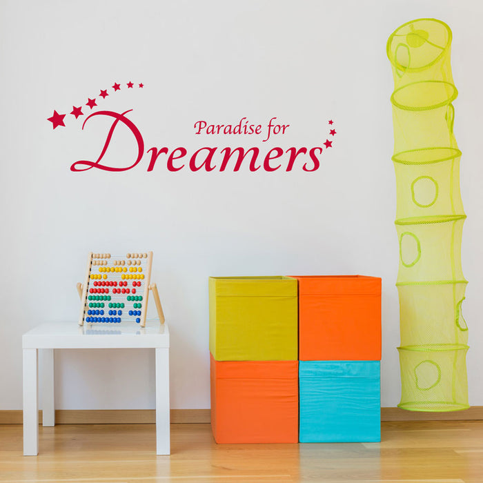 Paradise for Dreamers Wall Decal