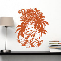 Paradise Girl Wall Decal