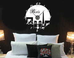 Paris Clock-Wall Decal Clocks-Style and Apply