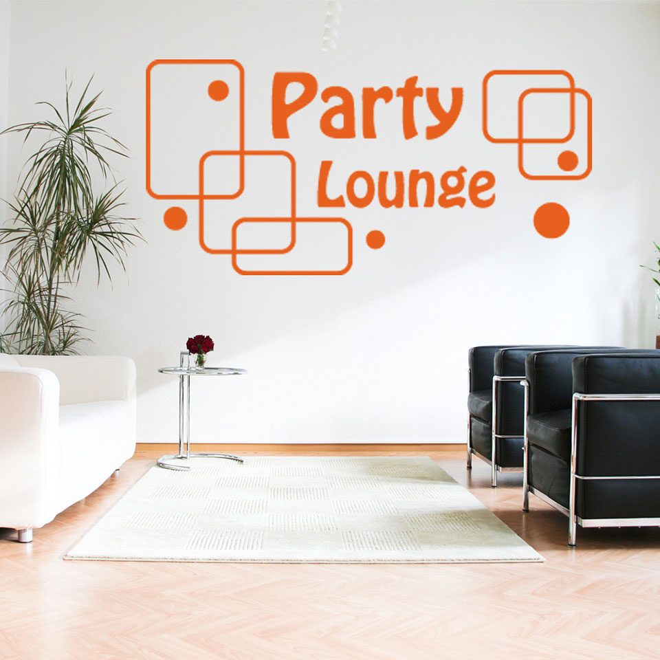 Party Lounge-Wall Decal