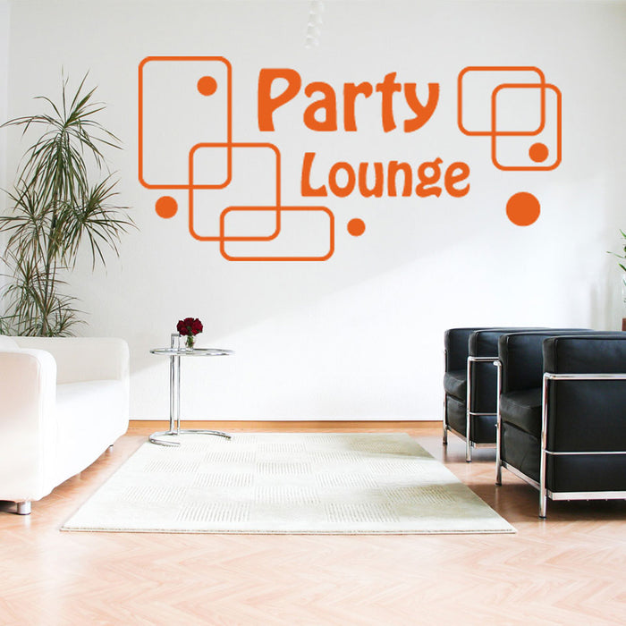 Party Lounge Wall Decal