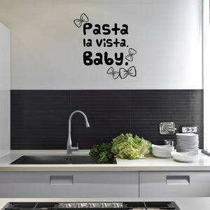Pasta la Vista Wall Decal-Wall Decals-Style and Apply
