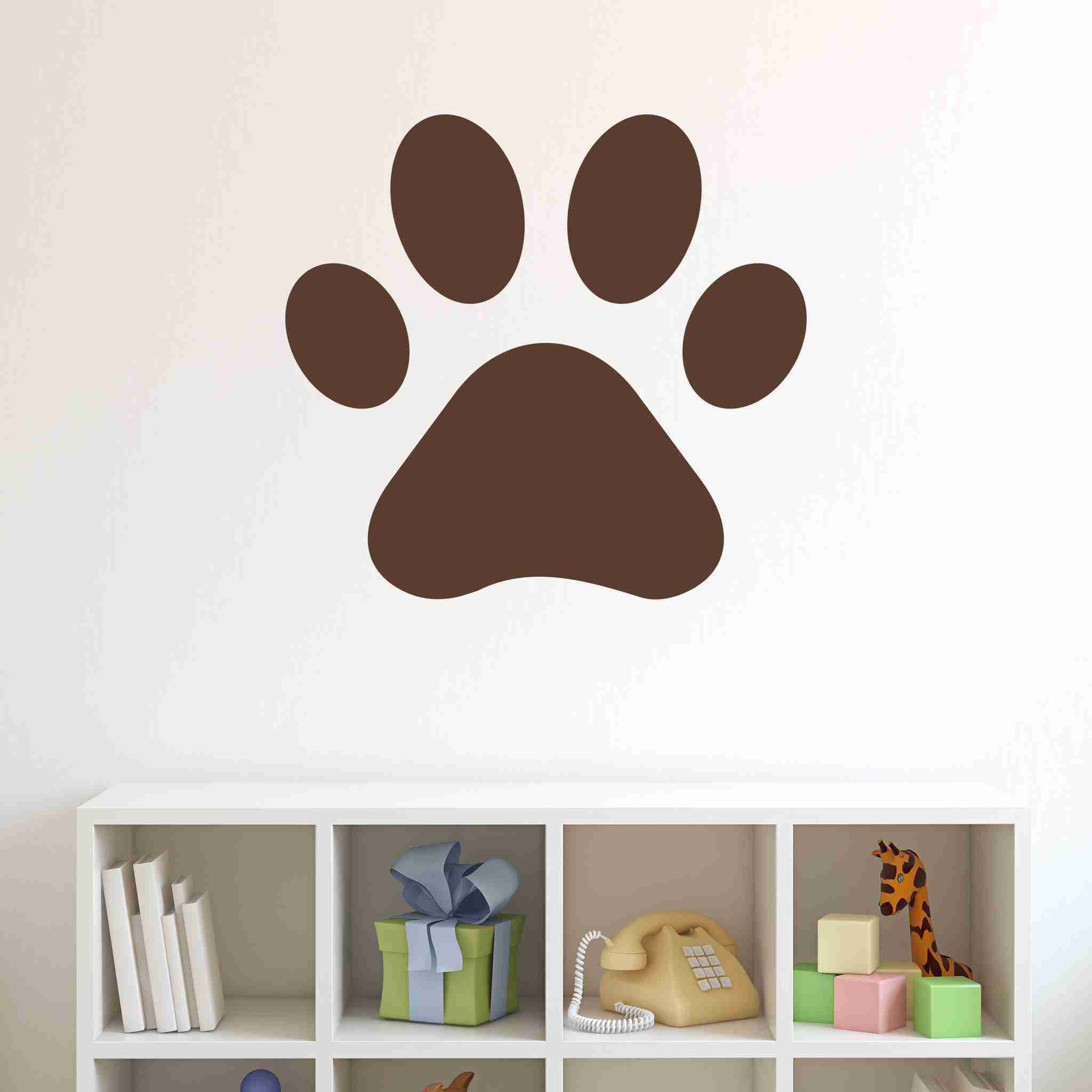 Pawprint Wall Decal Sticker Vinyl Wall Art Nursery Wall Decor - How do you put up vinyl wall decals