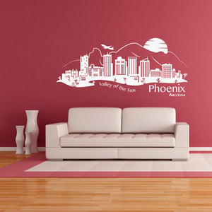 Phoenix City Skyline Wall Decal-Wall Decals-Style and Apply
