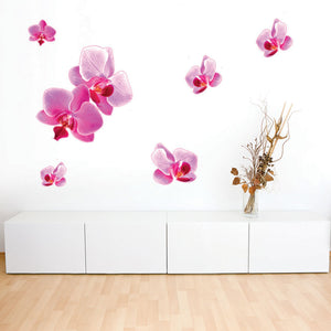 Pink Orchids Wall Decal Sticker