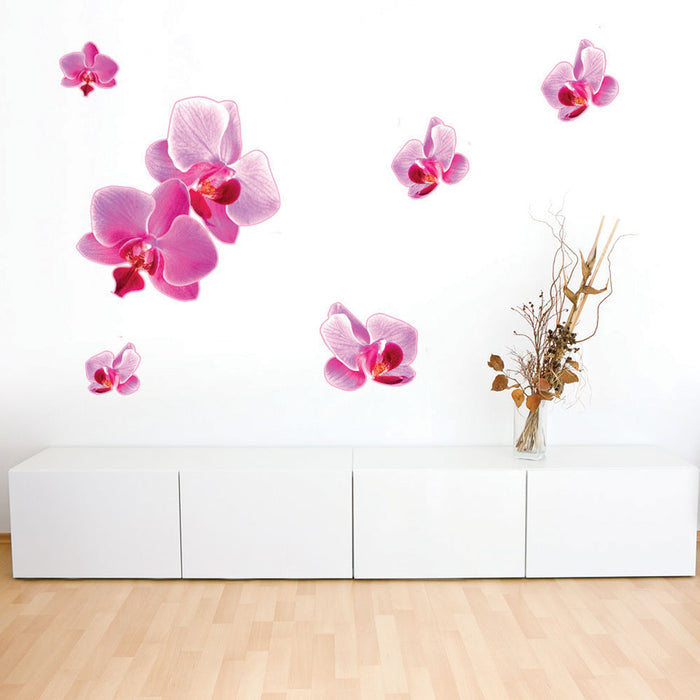 Pink Orchid Wall Decal