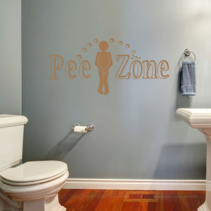 Pipi Zone-Wall Decal