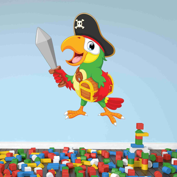 Pirate Parrot Wall Decal