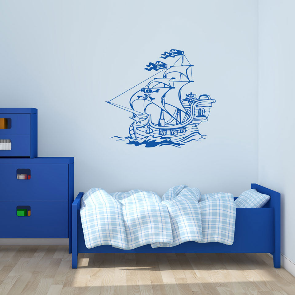 Pirate Ship IV-Wall Decals-Style and Apply
