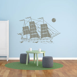 sailing Ship-Wall Decal
