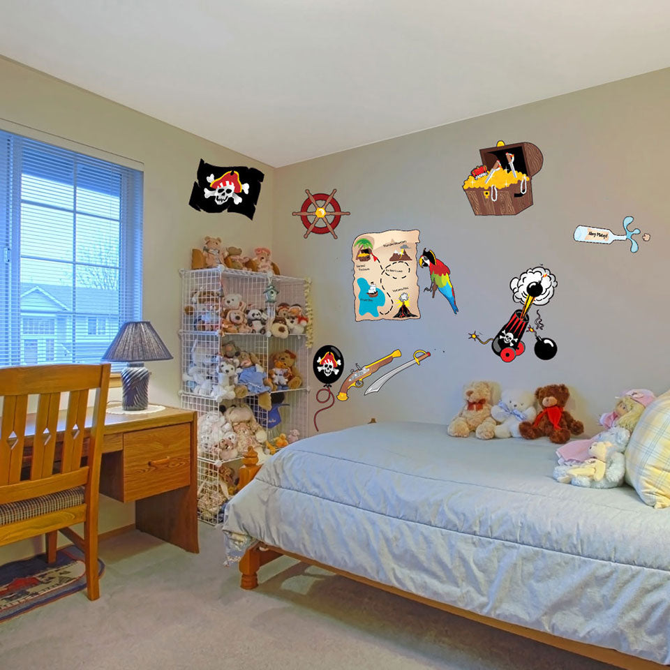 Pirate Wall Decal Set Style And Apply