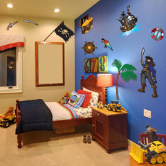 Pirate Set II Stickers-boy's room Wall Decal Stickers