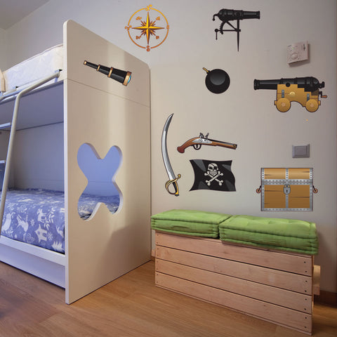 Pirate III Wall Decal Set & Wall Decals Boys | Toddler Wall Decor | Wall Decor for Boys Room ...