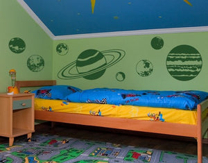 Planet Set Decal-Wall Decals-Style and Apply