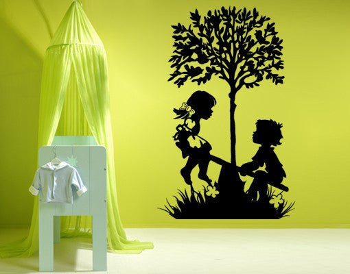 Playing Kids Decal-Wall Decals-Style and Apply