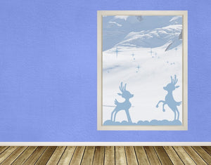 Playing Reindeer-Window Decals-Style and Apply