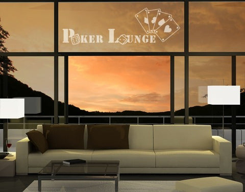 Poker Lounge-Window Decals-Style and Apply