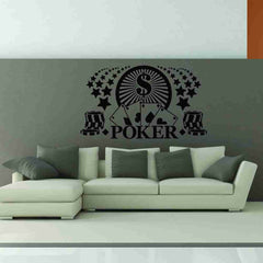 Poker Wall Decal-Wall Decals-Style and Apply