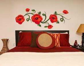 Poppies Wall Decal-Wall Decal Stickers-Style and Apply