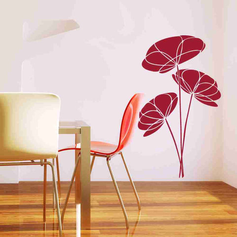 Poppy Flower Wall Decal-Wall Decals-Style and Apply
