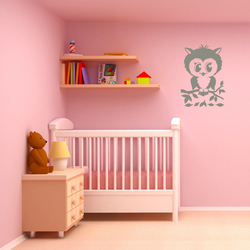 Pretty Owl Wall Decal-Wall Decals-Style and Apply