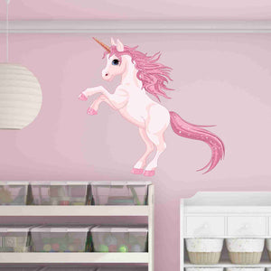 Pretty Pink Unicorn Wall Decal-Wall Decal Stickers-Style and Apply