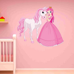 Princess and Horse Wall Decal