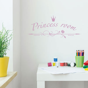 Princess Room-Wall Decals-Style and Apply