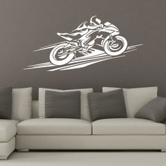 Motorcycle Racer Wall Decal