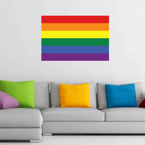 Rainbow Flag Wall Decal-Wall Decal Stickers-Style and Apply