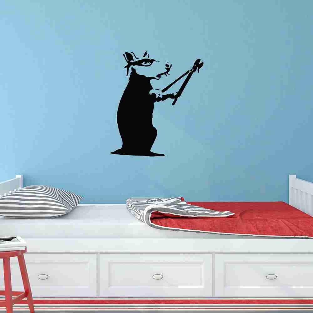 Rat Burglar Banksy Wall Decal-Wall Decals-Style and Apply