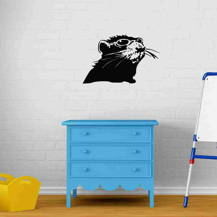 Rat With Shades Banksy Wall Decal