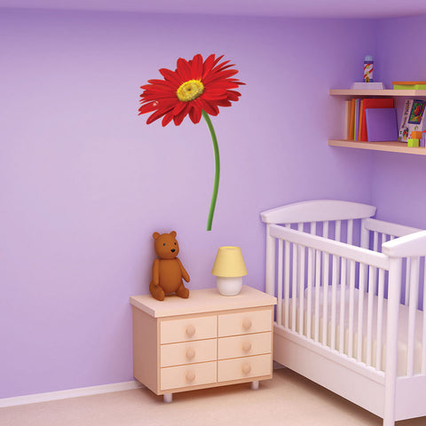 Red Flower Wall Decal