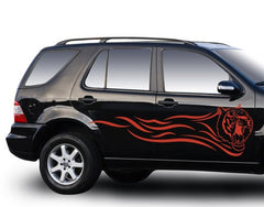Red Tiger-Car Decals-Style and Apply