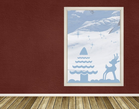 Reindeer and Tree-Window Decals-Style and Apply